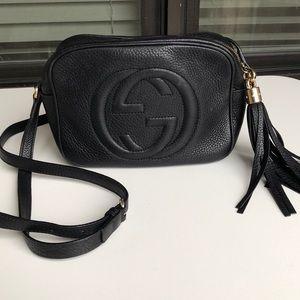 Gucci Soho Leather Disco Bag, Black